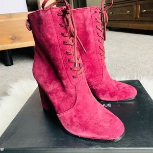 NIB Saks Fifth Avenue Connie Combat Leather Boots
